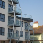 steel frames balconies