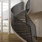 Rampe d'escalier en brise vue